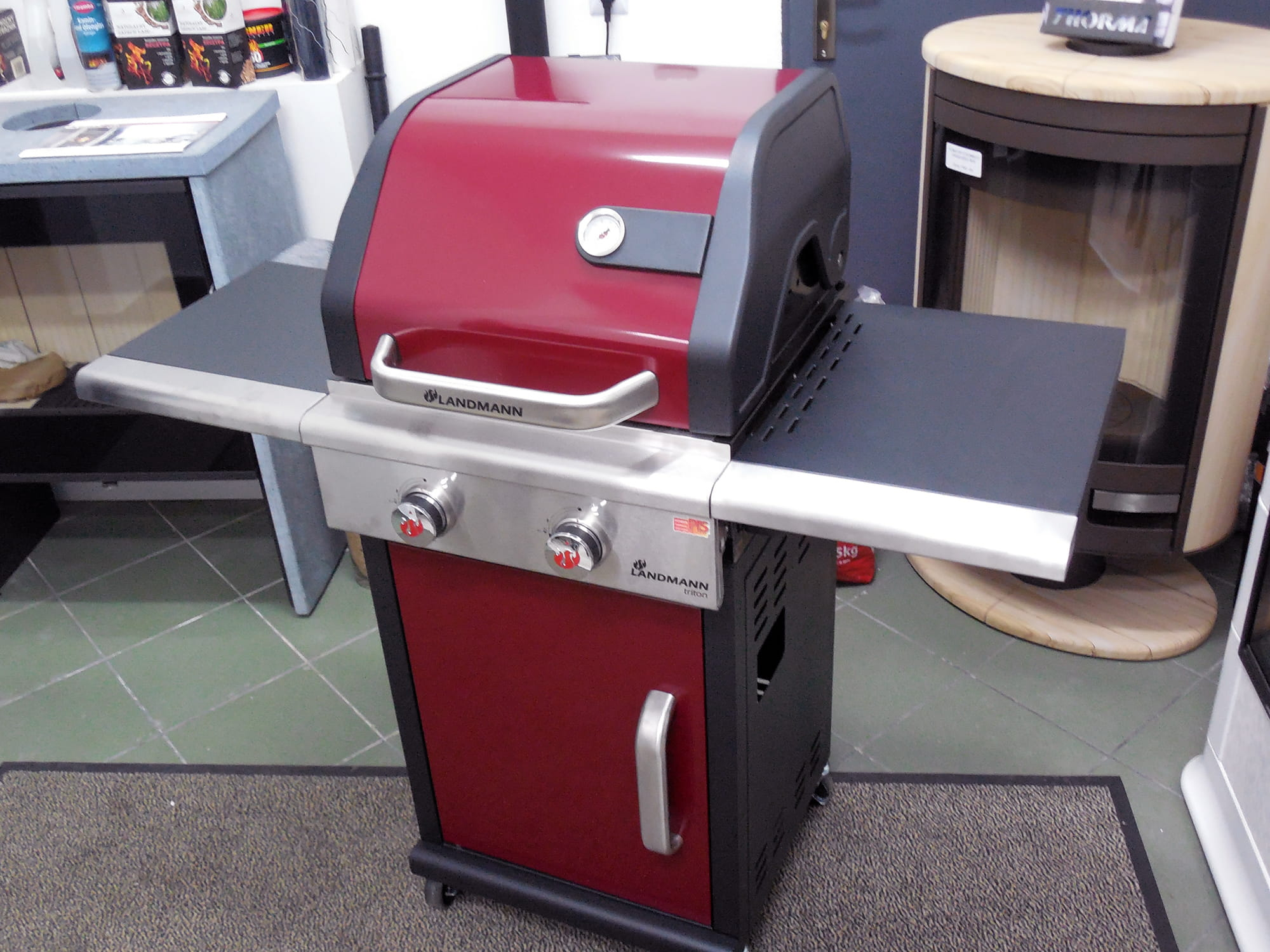 grill gazowy landmann triton pts 2 0 bordowy 12902 sklep z grillami grille. Black Bedroom Furniture Sets. Home Design Ideas