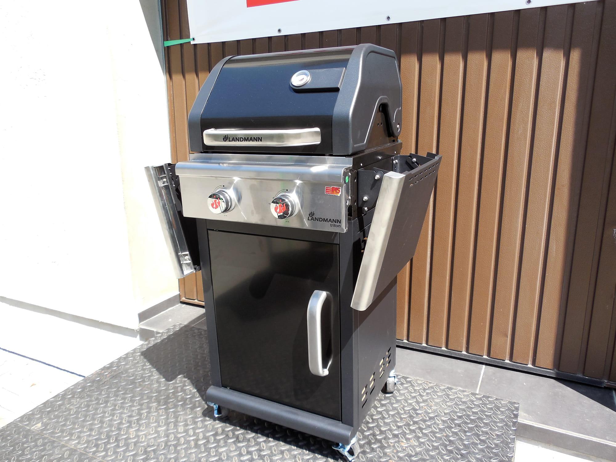 grill gazowy landmann triton pts 2 0 czarny 12903 sklep z grillami grille. Black Bedroom Furniture Sets. Home Design Ideas